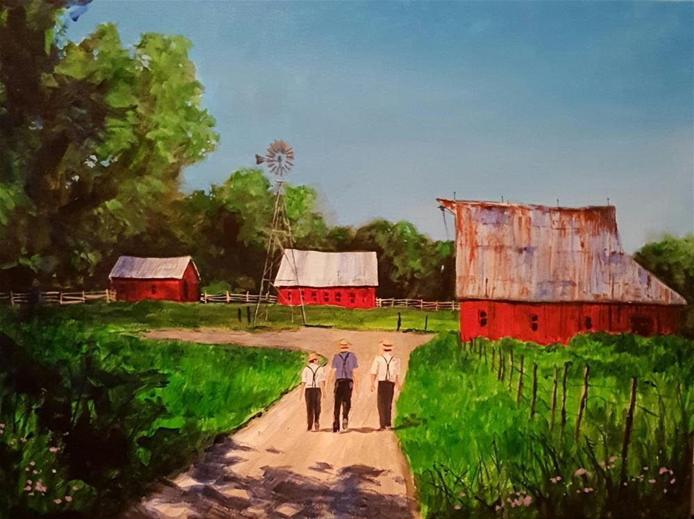 """""""Summer Days"""" original fine art by Steve Gibson"""