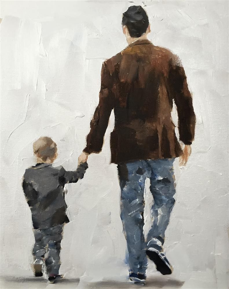 """Man and Boy"" original fine art by James Coates"