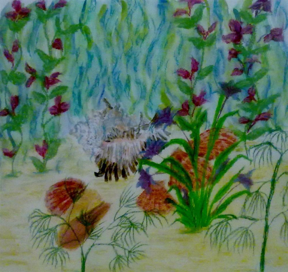 """Sea Garden"" original fine art by Jules Fine Art Gallery"