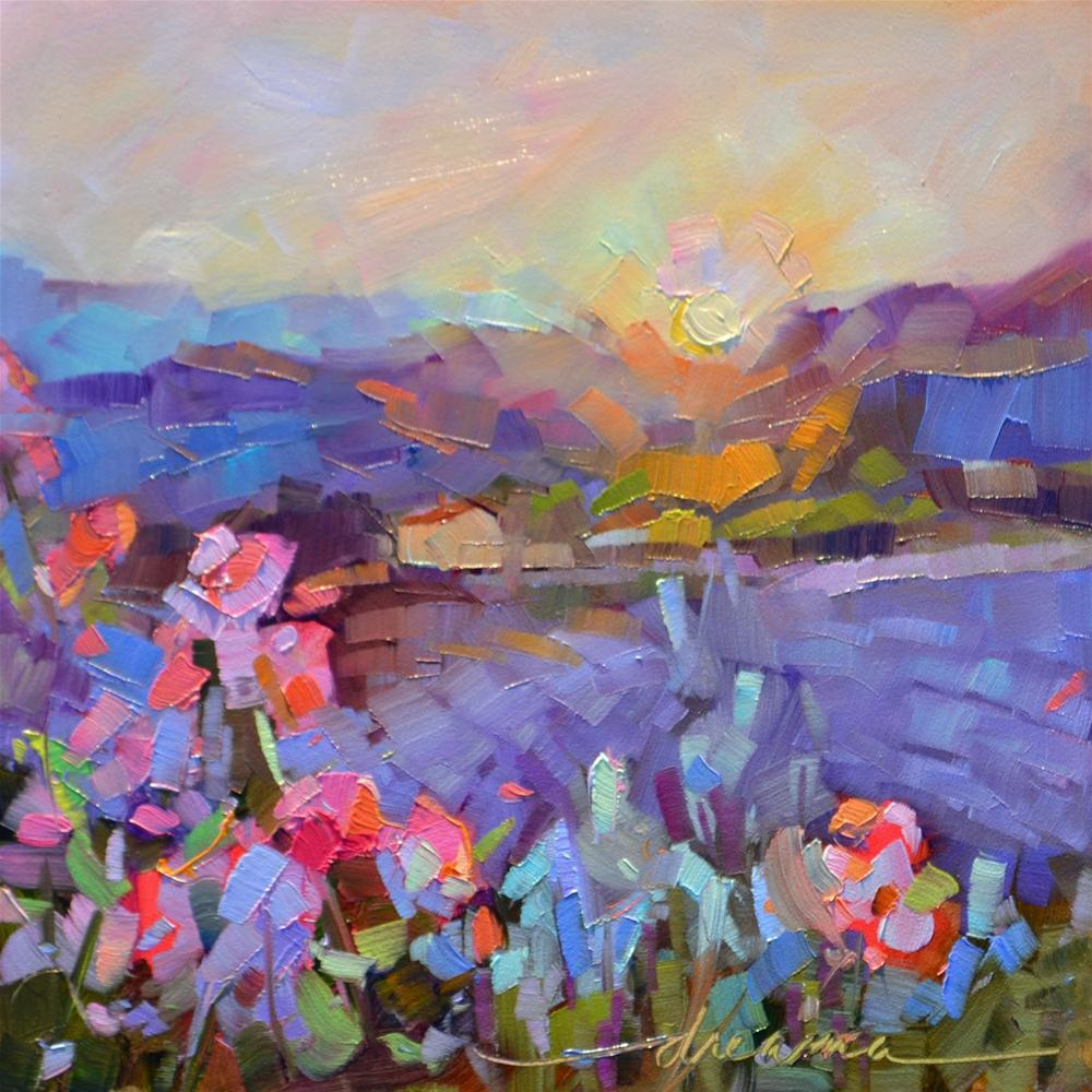 """""""Afterglow"""" original fine art by Dreama Tolle Perry"""