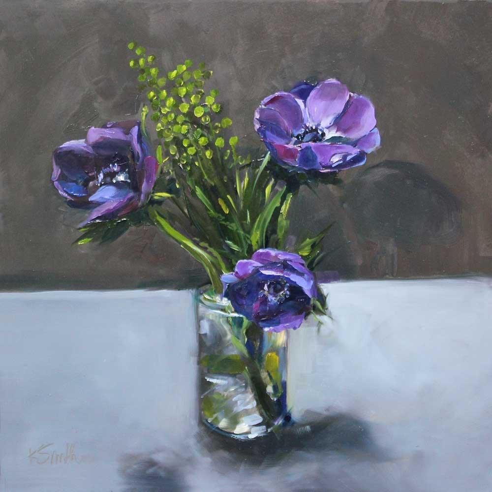 """cup half full"" original fine art by Kim Smith"