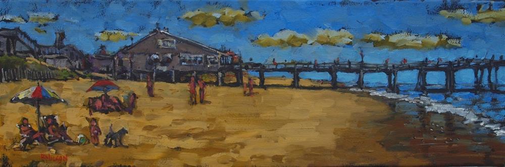 """Nag's Head Fishing Pier"" original fine art by Rick Nilson"