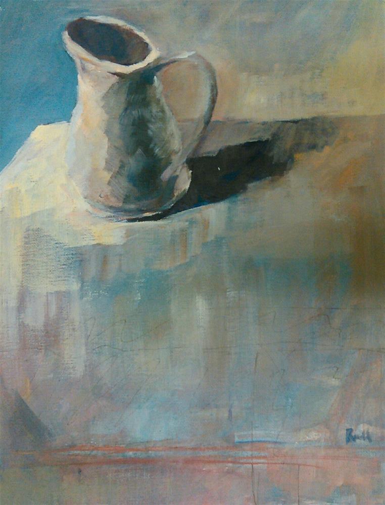 """""""Pitcher"""" original fine art by Ann Rudd"""