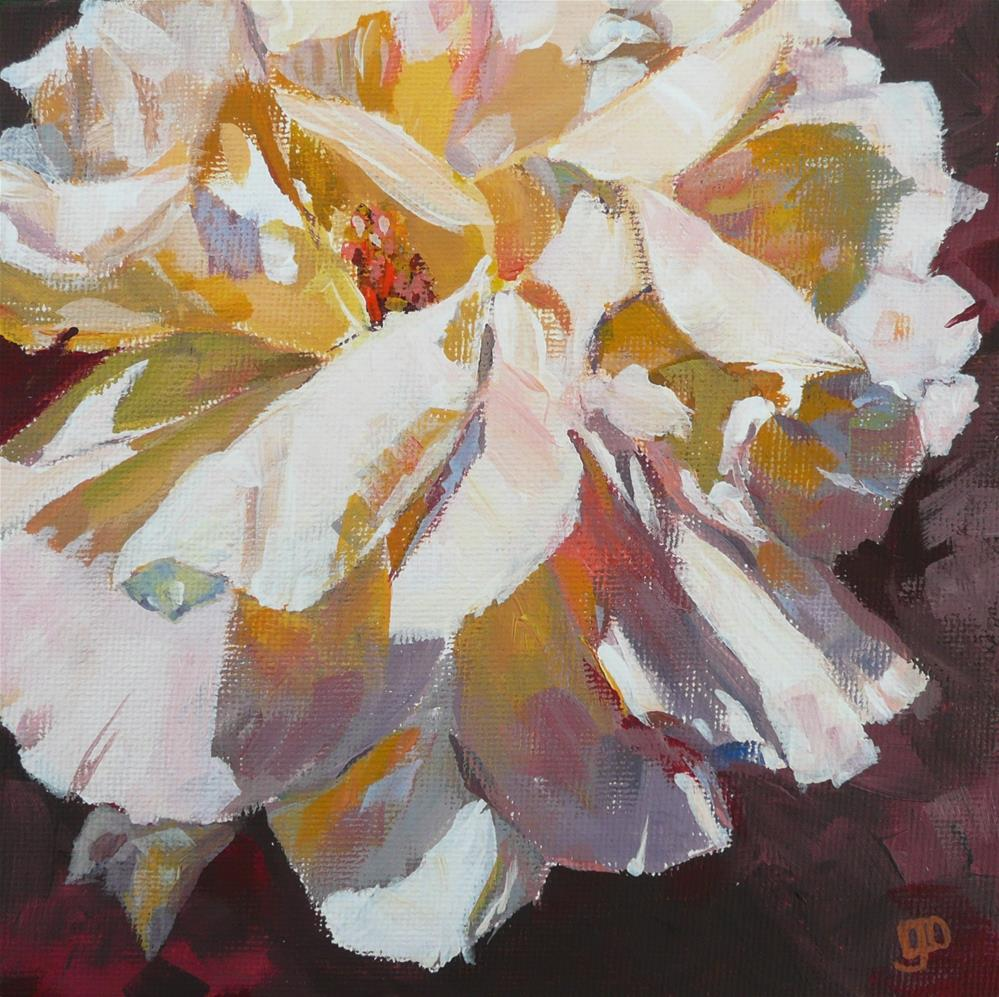 """Rose Challenge"" original fine art by Leanne Owen"