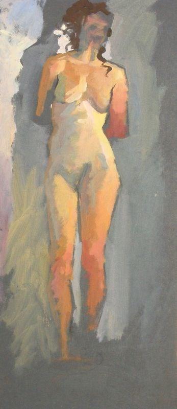 """""""Nude colour study"""" original fine art by Peter Orrock"""