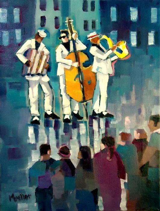"""White Noise"" original fine art by Laurie Mueller"
