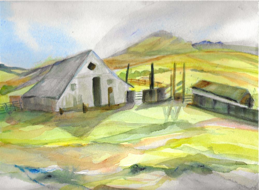 """Greenleaf Ranch - Brush Creek"" original fine art by Jean Krueger"
