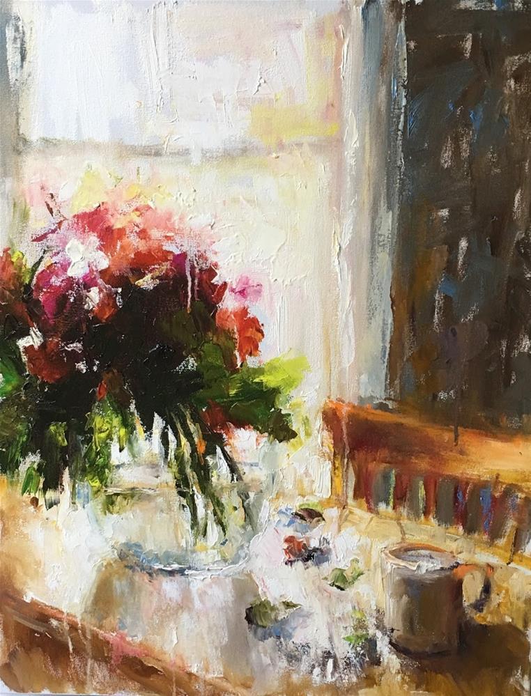 """Table by the Window"" original fine art by pepa sand"
