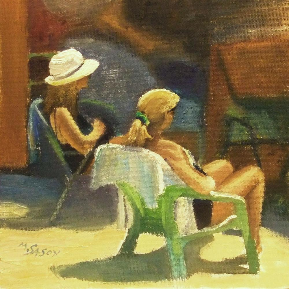 """""""Day out on the beach"""" original fine art by Michael Sason"""