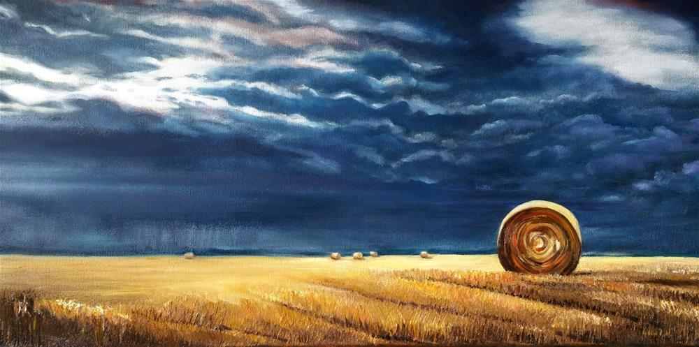 """Wheat Field Storm"" original fine art by Dana C"