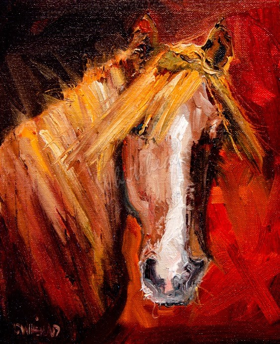 """ARTOUTWEST Katie's Horse equine animal art by Diane Whitehead"" original fine art by Diane Whitehead"