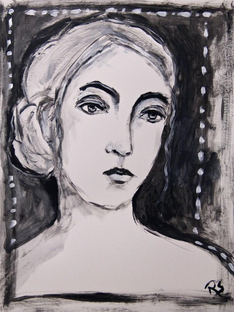 """""""Reticence"""" original fine art by Roberta Schmidt"""