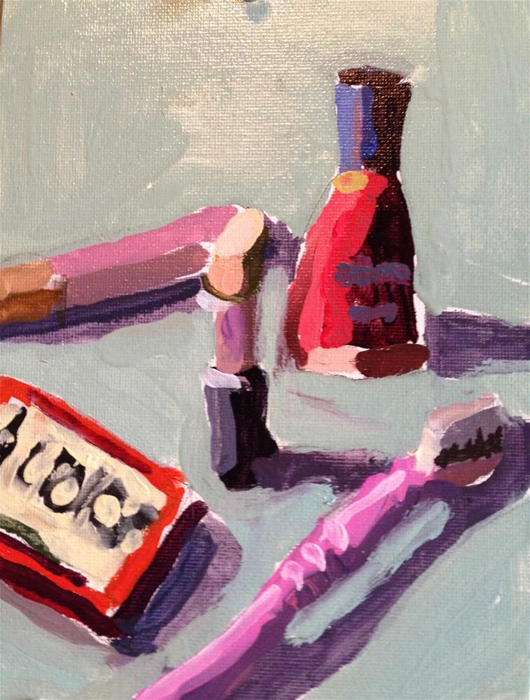 """I Do NOT Need a Pink Cadillac"" original fine art by Pamela Hoffmeister"