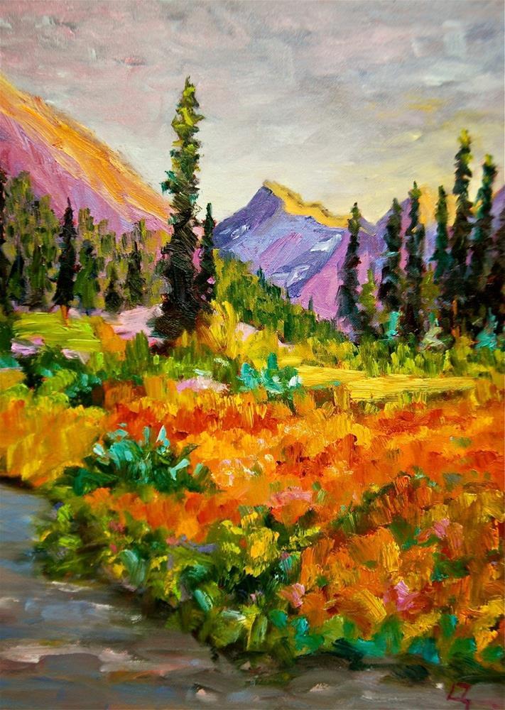 """Golden Fields"" original fine art by Liz Zornes"