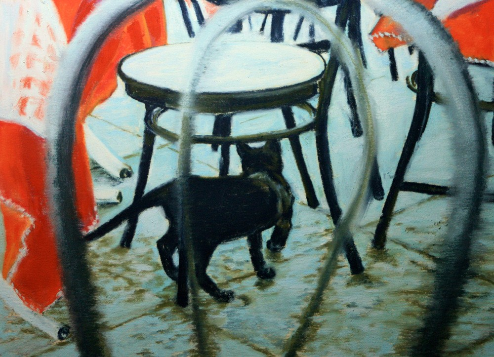 """""""Waiting to be Seated"""" original fine art by Jill Bates"""