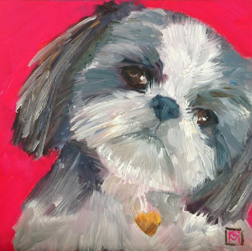 """Is That A Wookie?, 6x6 Inch Oil Painting by Kelley MacDonald"" original fine art by Kelley MacDonald"