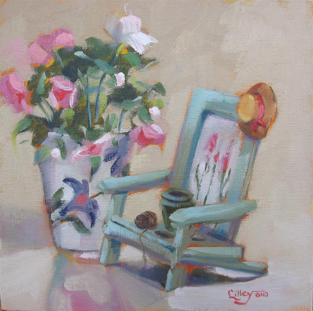 """Rest Your Gardener's Heart"" original fine art by Maresa Lilley"