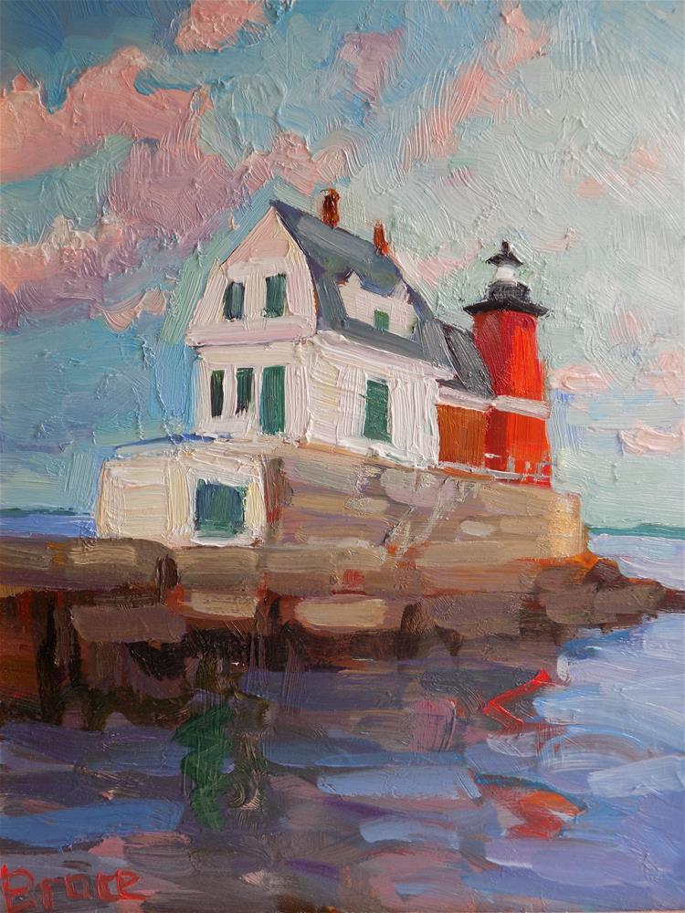 """""""Rockland Breakwater """" original fine art by Rita Brace"""