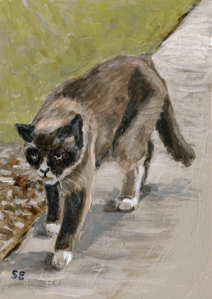 """Bad Cat"" original fine art by Stanley Epperson"