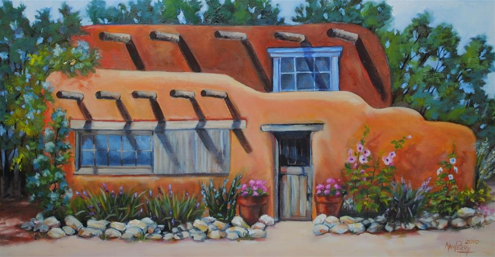 """Santa Fe Dwelling"" original fine art by Nan Perry"