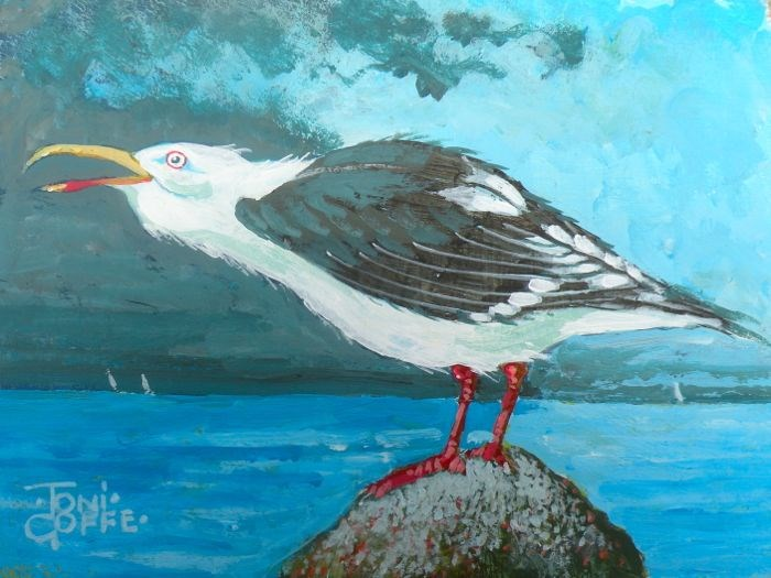 """""""Shouting at the Storm"""" original fine art by Toni Goffe"""