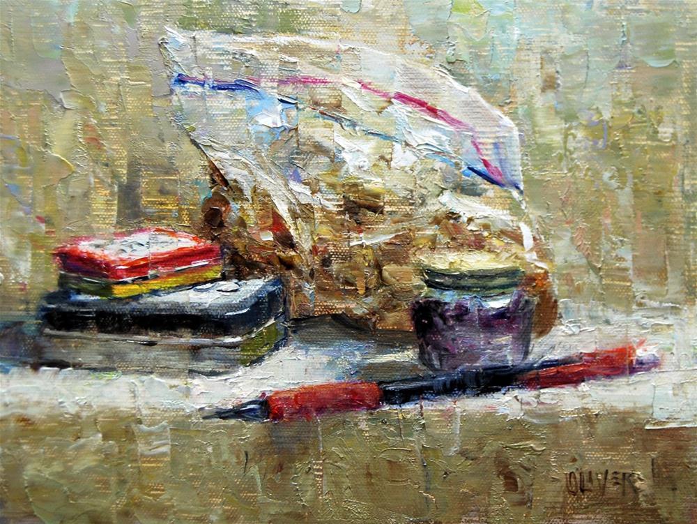 """""""On the Shelf - #1"""" original fine art by Julie Ford Oliver"""