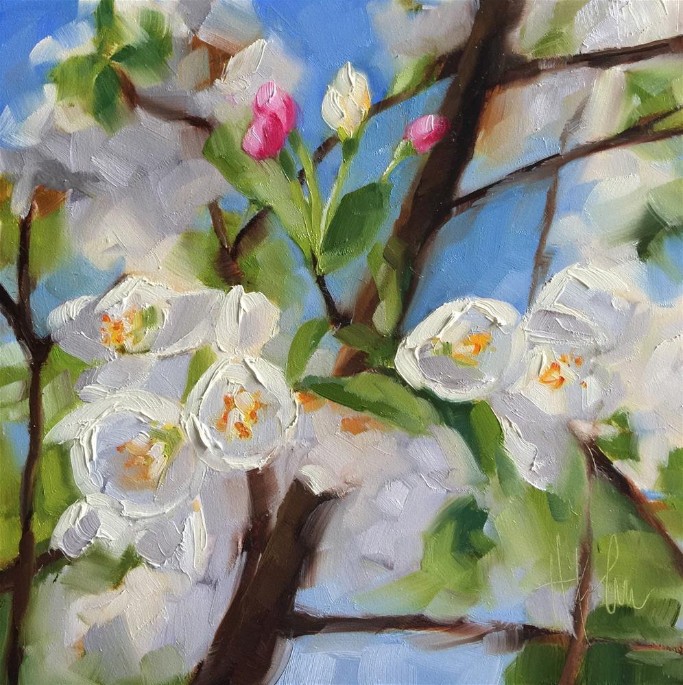 """Tree in Spring"" original fine art by Hallie Kohn"