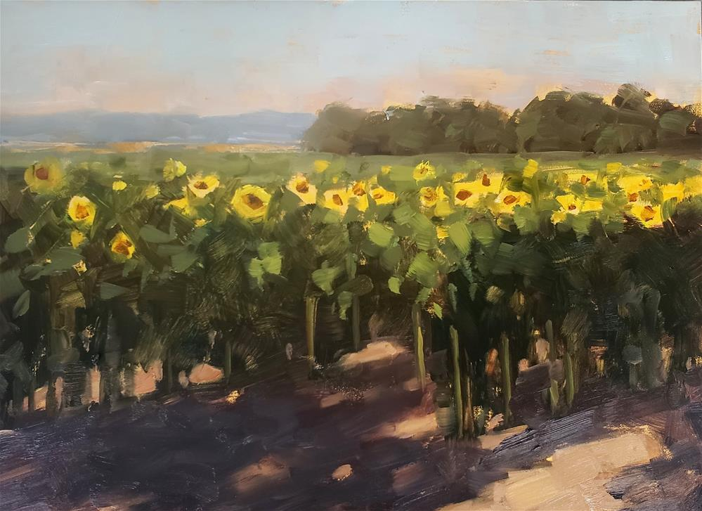 """Field of Sunflowers"" original fine art by Barbie Smith"