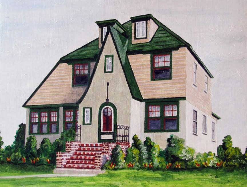 """Brick Steps"" original fine art by Nan Johnson"
