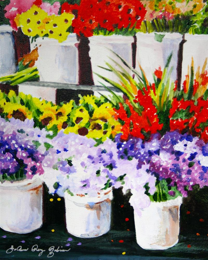 """""""From Seeds to Market"""" original fine art by JoAnne Perez Robinson"""