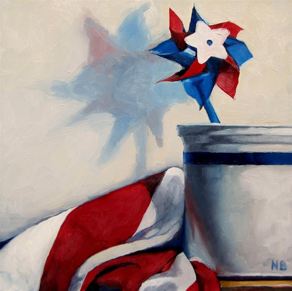 """Star and Stripes"" original fine art by Nora Bergman"