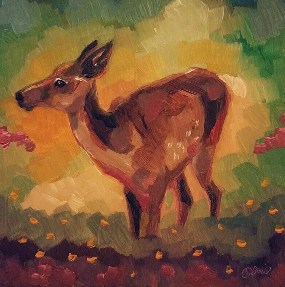 """""""Young Deer"""" original fine art by Leni Tarleton"""