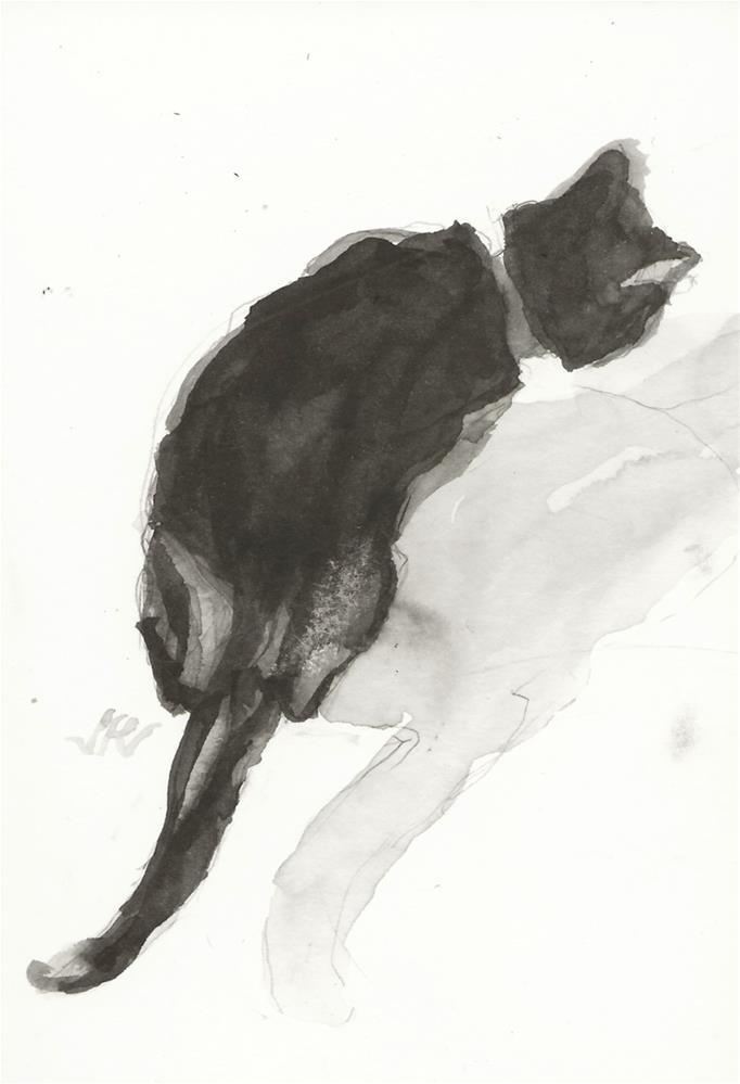 """Daily Cat 141"" original fine art by Jean Krueger"