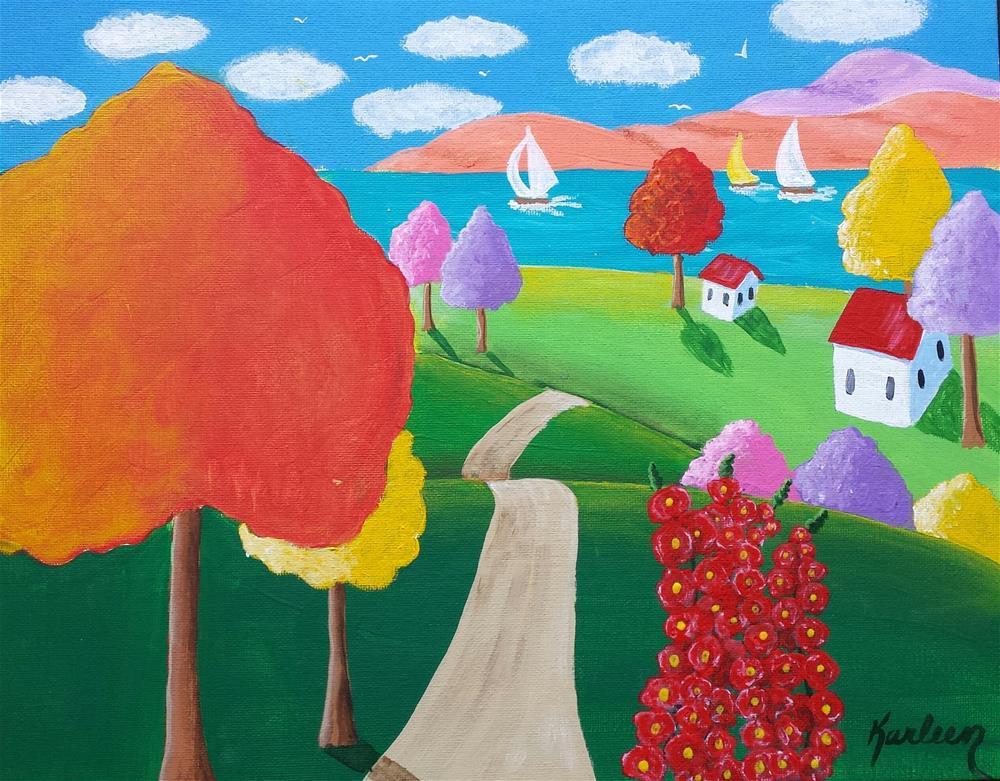 """Summer Cottage"" original fine art by Karleen Kareem"