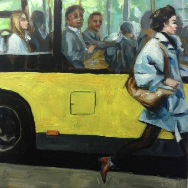 """083 Just wait a moment"" original fine art by Anja Berliner"