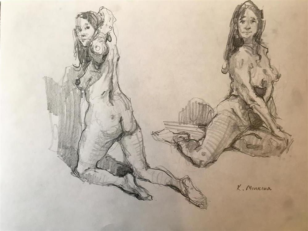 """Figuary3"" original fine art by Katya Minkina"