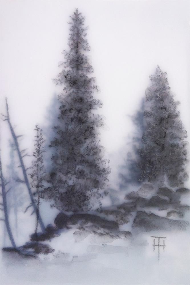 """Along Johnston Canyon"" original fine art by Terri Heinrichs"