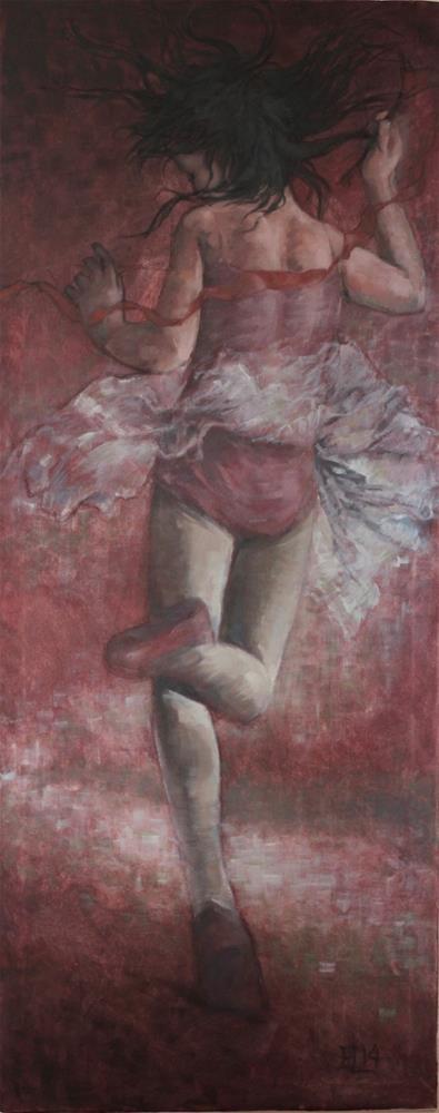 """""""The Red Ribbon"""" original fine art by Emilia Leinonen"""