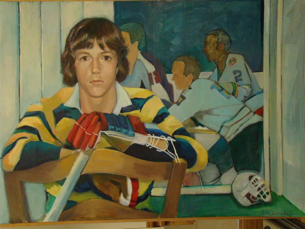 """""""Andrew"""" original fine art by meribeth coyne"""