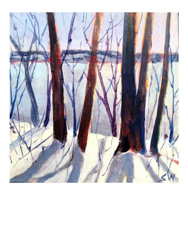 """Winter Afternoon"" original fine art by Suzanne Woodward"