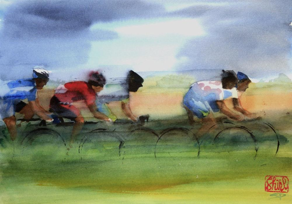 """The Breakaway"" original fine art by Shirley Peters"