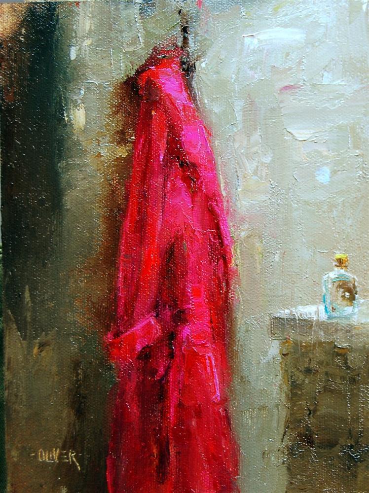 """My Red Robe"" original fine art by Julie Ford Oliver"