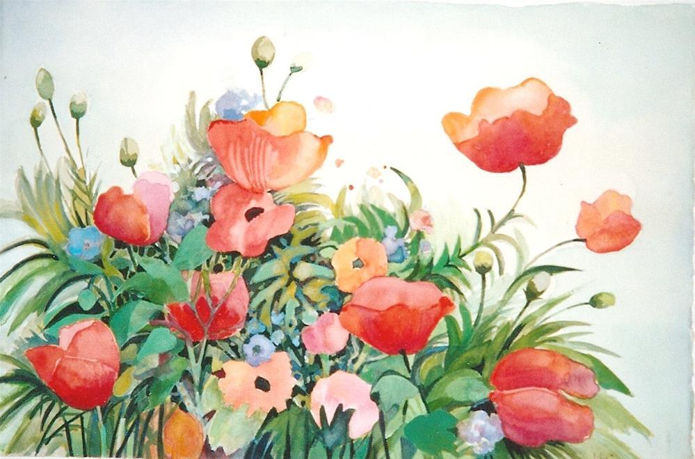 """poppies3"" original fine art by meribeth coyne"