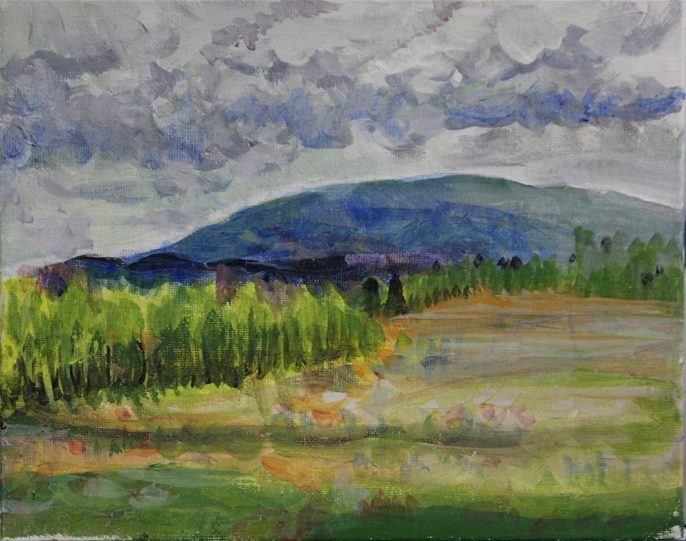 """""""Soft Rainy Day - Plein Air"""" original fine art by Terri-Anne Barge"""