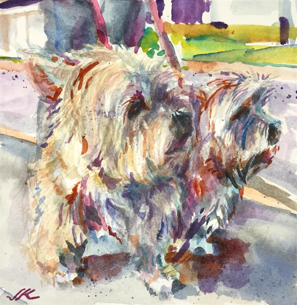 """Highland Terriers"" original fine art by Jean Krueger"