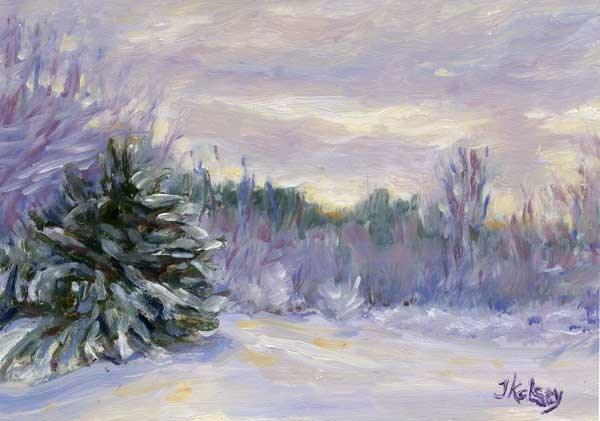 """Winter Afternoon"" original fine art by J Kelsey"