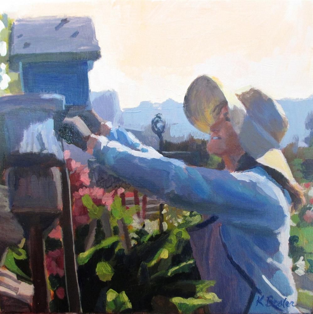 """""""Housekeeping"""" original fine art by Kaethe Bealer"""