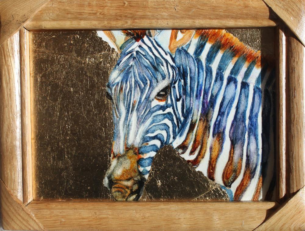 """The Zebra"" original fine art by Christiane Kingsley"