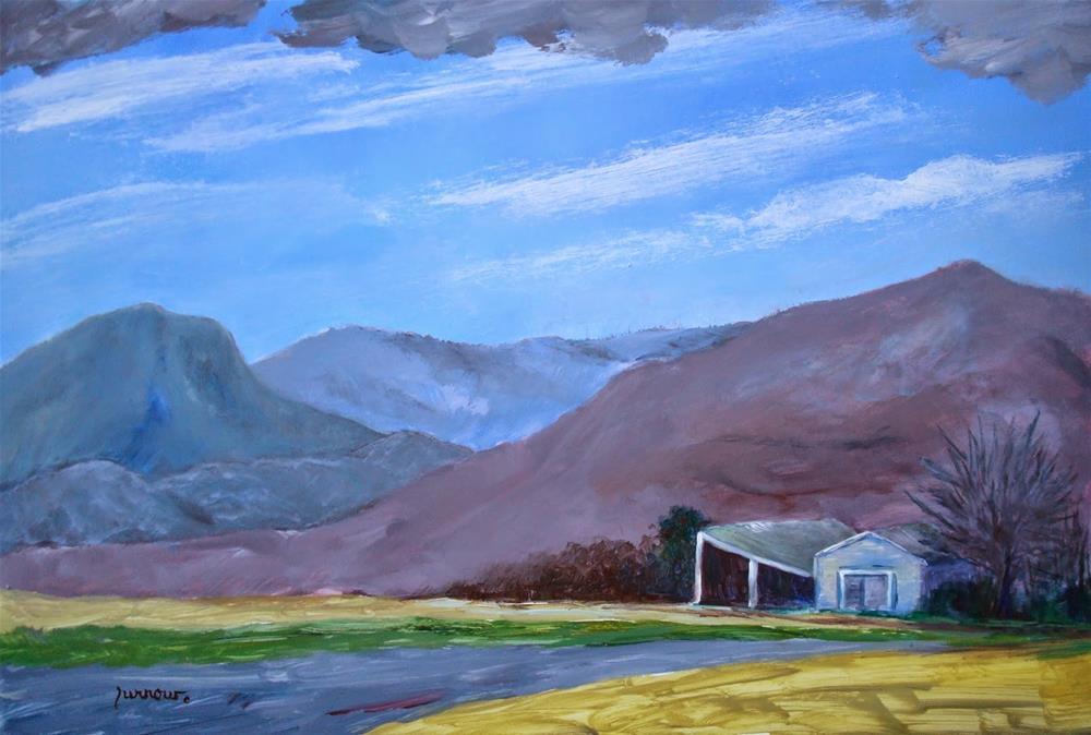 """ORIGINAL PLEIN AIR START AND THE GRAND FINALE"" original fine art by Sue Furrow"