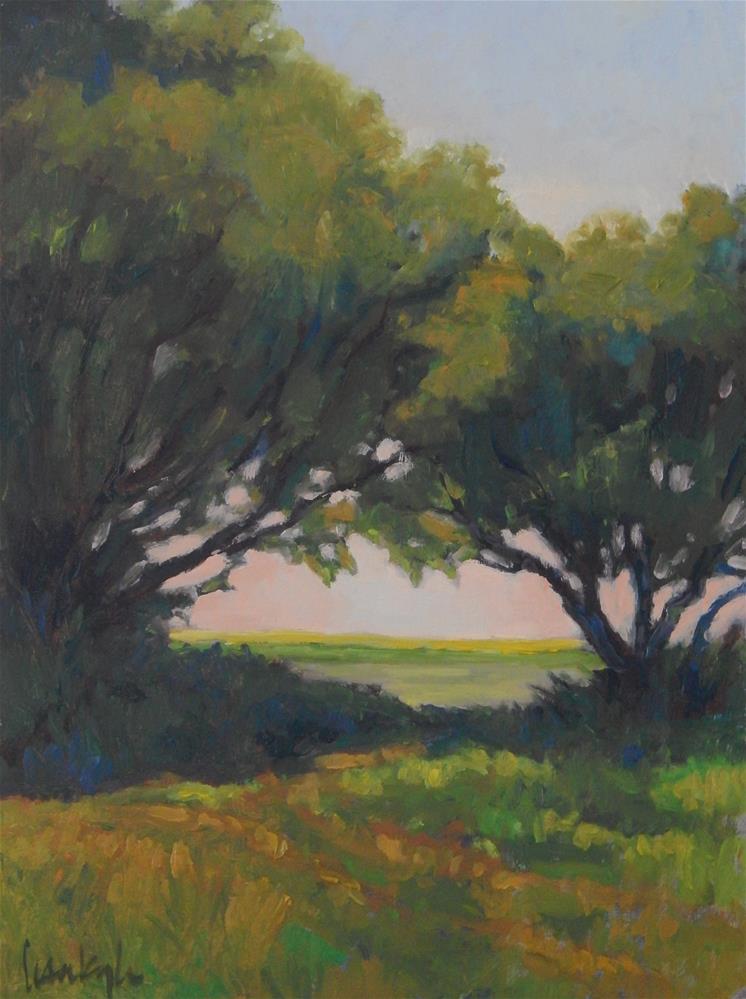 """Through the trees"" original fine art by Lisa Kyle"